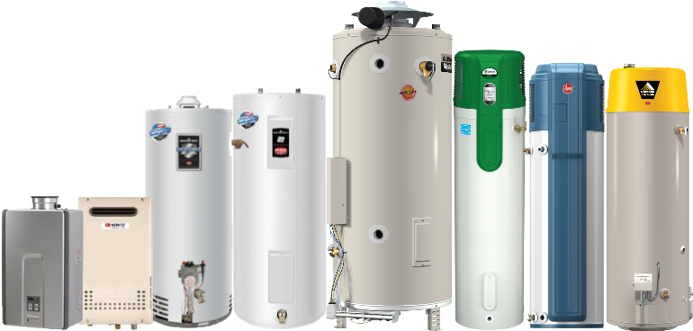 water heater products and brands