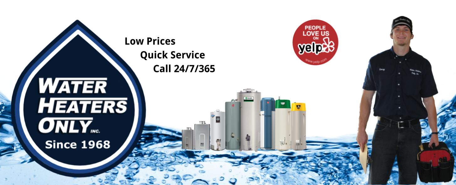 Water Heaters Only, Inc San Francisco Header